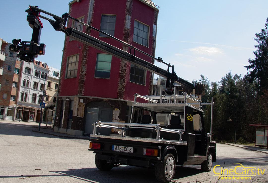 E-Kamerawagen mit Foxy-Jib